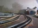 Ein Blick die Bahnhofsgleise entlang.